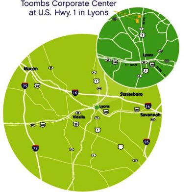 Toombs County Transportation map - Corporate Center